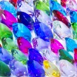 Stock Photo: Multi color big gems