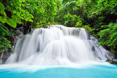 Water fall , hua mae kamin level 3 kanchanaburi thailand — Stock Photo