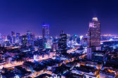 Aerial view of bangkok at twilight night — Stock Photo