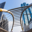 Skywalk at downtown square in bangkok — Stock Photo