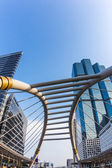 Public skywalk at downtown square in bangkok — Stock Photo