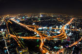 Aerial view of expressway in bangkok thailand — Stock Photo