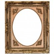 Wooden frame isolated with clipping path — Stock Photo