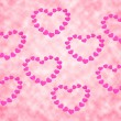 Stock Photo: Pink heart background