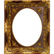 Stock Photo: Gold wooden frame isolated with clipping path