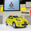 Stock Photo: BANGKOK-DEC 03: Mitsubishi Mirage on Display at Thailand Interna