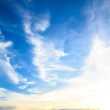 Stock Photo: Sunset cloud and blue sky