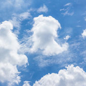 Blue sky with clouds,natural sky for background — Stock Photo