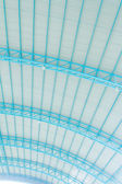 Metal roof with steel structure — Stock Photo