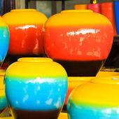 Ceramic pitchers — Stock Photo