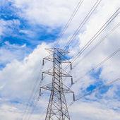 Electricity high voltage pylon — Stock Photo