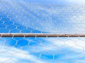 Ball goal net — Stock Photo