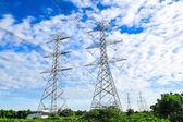 Electricity high voltage power pylon — Stock Photo