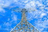 Elektřina vysokého napětí napájení pylonu — Stock fotografie