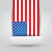 United States Flag In Paper Slit — Stock Vector