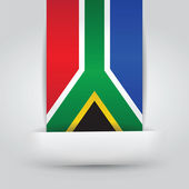South Africa Flag In Paper Slit — Stock Vector