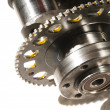 The crankshaft from a sports car engine — Stock Photo