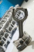 The piston from a sports car engine — Stock Photo