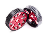 New adjustable pulleys for a camshaft — Stock Photo