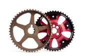 New and old sports pulleys for a camshaft — Stock Photo