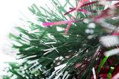Macro of christmas-tree tinsel — Stock fotografie
