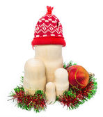 Matryoshka with christmas-tree decoration — Stockfoto
