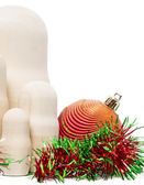 Matryoshka with christmas-tree decoration — Foto de Stock