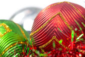 Macro of christmas-tree decoration ball — Foto de Stock