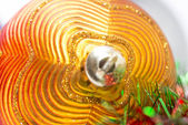 Macro of christmas-tree decoration ball — Zdjęcie stockowe