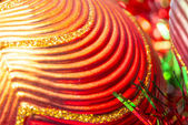Macro of christmas-tree decorations — Foto de Stock
