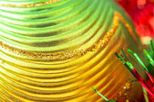 Macro of christmas-tree decorations — Stockfoto