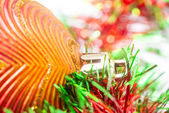 Macro of christmas-tree decorations — Стоковое фото