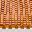 Yellow Thai temple roof pattern — Stock Photo
