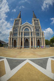 The biggest Catholic church in Thailand in fish eye view — Foto Stock