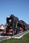 Pomnik lokomotywy. — Zdjęcie stockowe