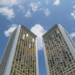 Two high-rise residential buildings. — Stock Photo