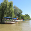 Excursion boats on the river Kamchiya. Bulgaria. — Lizenzfreies Foto