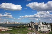 General view of the city of Kazan from the observation deck. Russia — Stock Photo