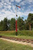 Semaphore on Pereslavl rail — Zdjęcie stockowe