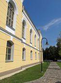 Architettura. l'edificio di kuldiga di libreria principale della città, lettonia — Foto Stock