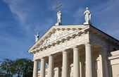 Fragment of St. Stanislaus Cathedral in Vilnius, Lithuania — Stock Photo