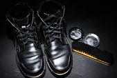 Black male shoes — Stockfoto