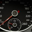 Close up of a car speedometer — Stock Photo
