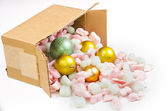 Spilled Christmas balls — Stock Photo