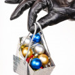 Stock Photo: Gift bag full of Christmas decorations