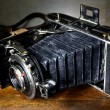 Stock Photo: Nostalgic antique bellows camera
