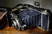 Nostalgic antique bellows camera — Stock Photo