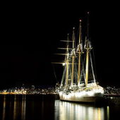Sailing ships Esmeralda — Stock Photo