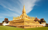 Pha That Luang monument, Vientiane, Laos. — Stock Photo