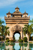Patuxai Monument, Vientiane, Laos. — Stock Photo
